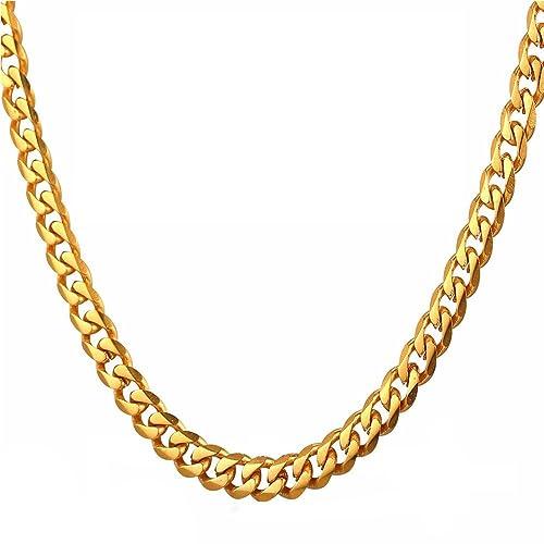 be4d8bde8 TUOKAY Collar Cadena de Oro Faux Hip Hop Estilo Chunky Cadena Luce Tan Real  Lujo.