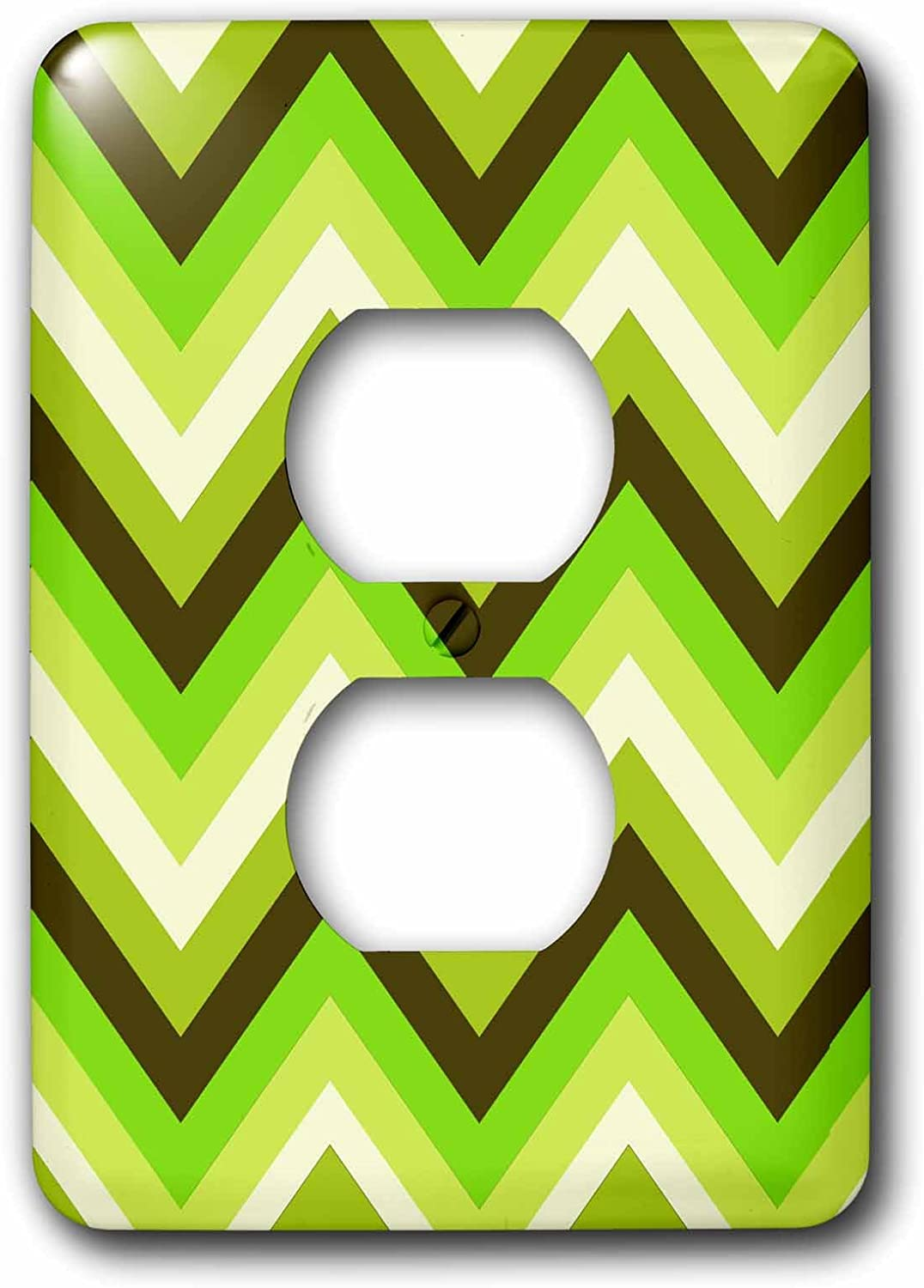 3dRose lsp_165751_6 Chevron Pattern in Green Apple Colors Modern Look Light Switch Cover
