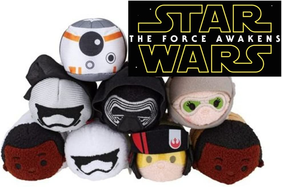 Disney Star Wars Force Awakens Kylo Ren Rey BB-8 Tsum Tsum Collectible Plush Toy