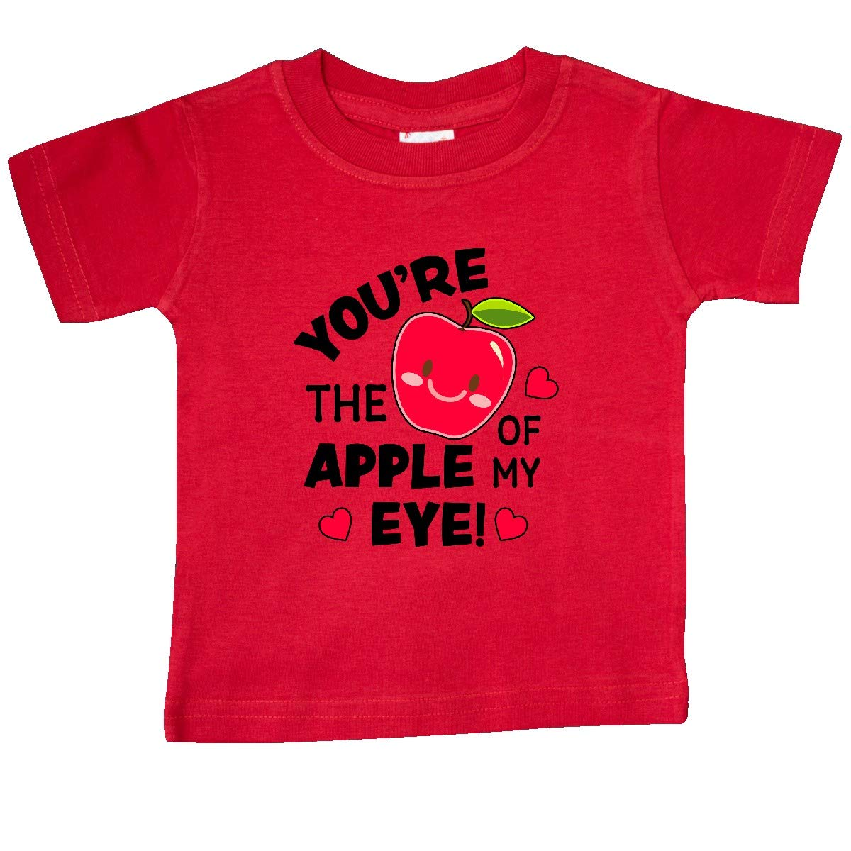 inktastic Youre The Apple of My Eye Valentine Pun with Cute Apple Baby T-Shirt