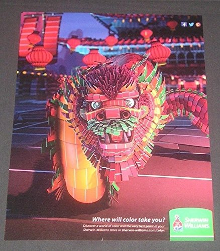 2013-print-ad-sherwin-williams-paints-art-illustration-colorful-chinese-lion-from-sample-paint-chip-