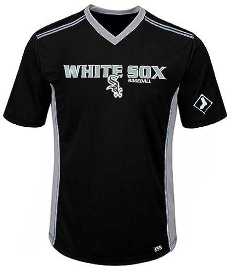 ddad9e8f6 VF Chicago White Sox MLB Mens Cool Base Performance V Neck Jersey Black Big  Sizes (