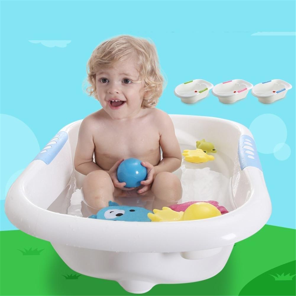 MYMGG Neonatal Badewanne Junge Mädchen Babybadewanne Großer Kinder Badewanne Rutschfester Umweltschutz Geeignet für 0-6 Jahre Alt Größe 80x51x23cm Material: Polypropylen (PP)