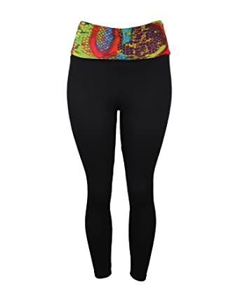 Sexy High Waisted Yoga Pants with Colorful Snake Skin Design at ...