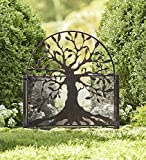 Metal Garden Gate with Tree of Life Design, 36 L x 1 .25 W x 48 H