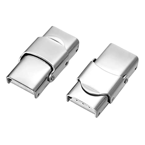 5 extremos de cable de acero inoxidable con cierre de dientes de sierra y mecanismo de bloqueo, 25 mm x 8 mm, color plateado