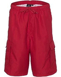 7368a0ebfc Amazon.com  Burnside Mens Swim Striped Board Shorts-B9401  Clothing