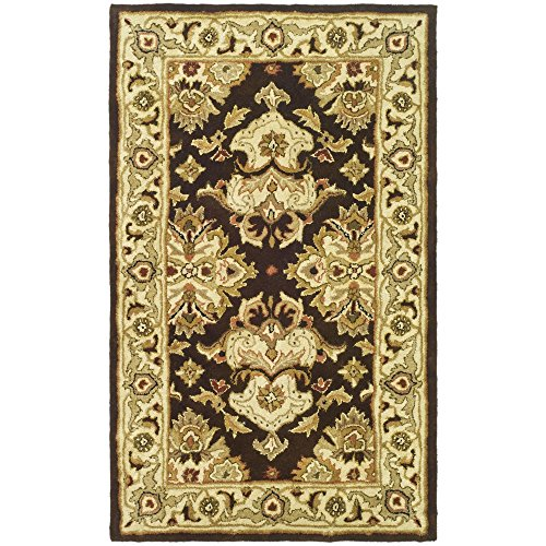 Espresso Rug - Safavieh Heritage Collection HG817B Handcrafted Traditional Oriental Espresso and Ivory Wool Area Rug (2' x 3')