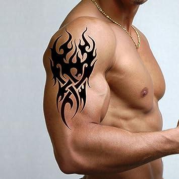 Amazon Com Tafly Men S Temporary Tattoo Tribal Pattern Tattoo