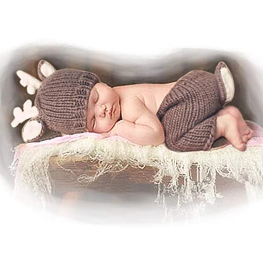 7bc2ab781ed Amazon.com  Newborn Baby Photography Props Outfits Lovely Boy Hat ...
