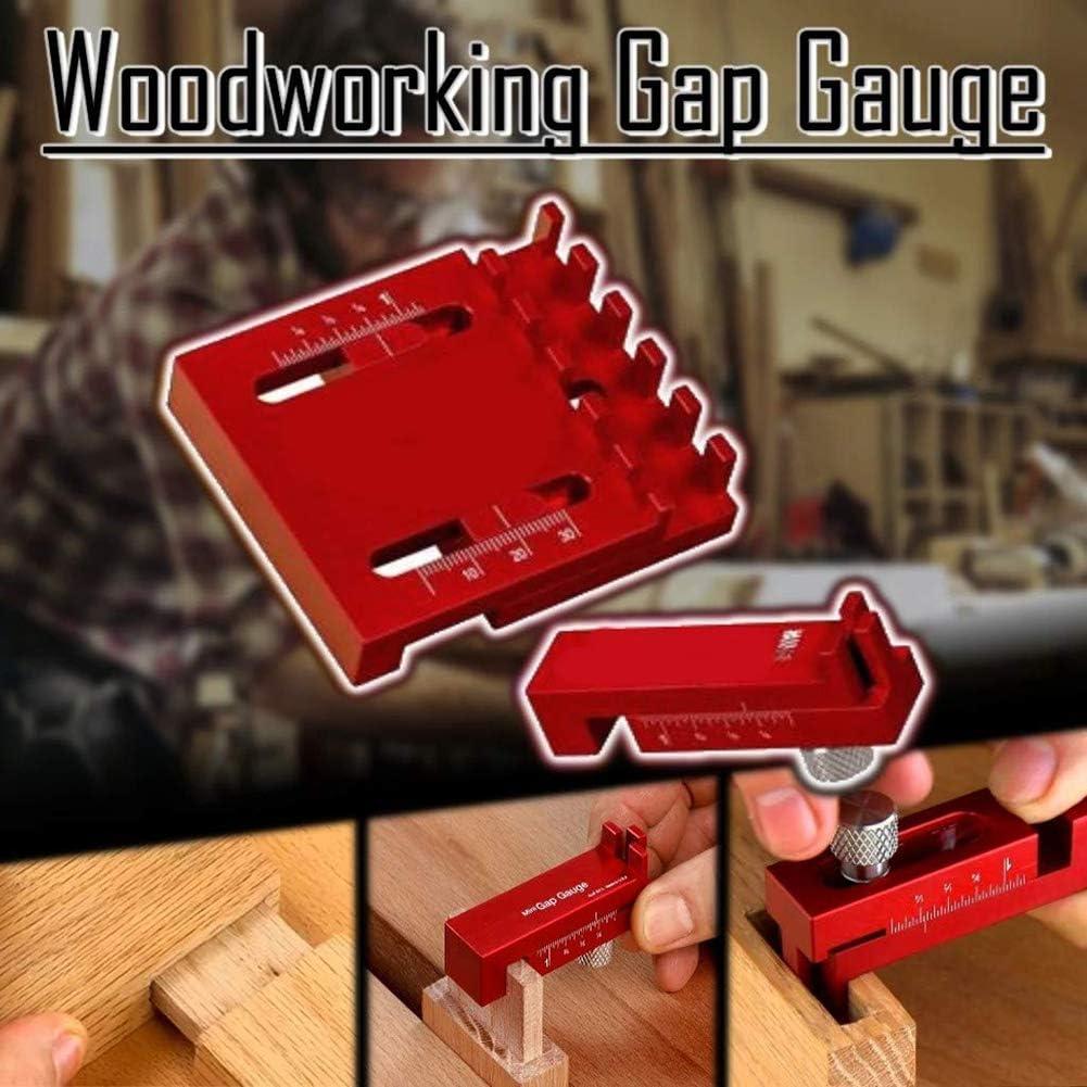 Woodworking Gaps Gauge Depth Measuring Ruler Line Sawtooth Ruler Marking Tool T2