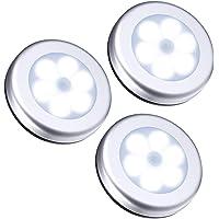 Beveiligingssensor licht buiten / binnen 3 stuks draadloze PIR automatische bewegingssensor nachtlampje 6 LED sensor…