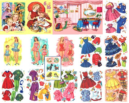 6 and Sweet 16, Restored 1955 Paper Doll Book PDF