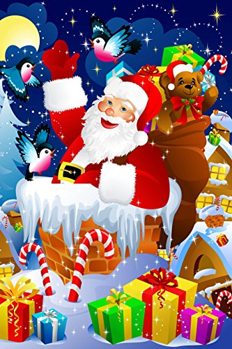 Santa Claus Coming Down the Chimney 35 Piece Children's Jigsaw Puzzle 12