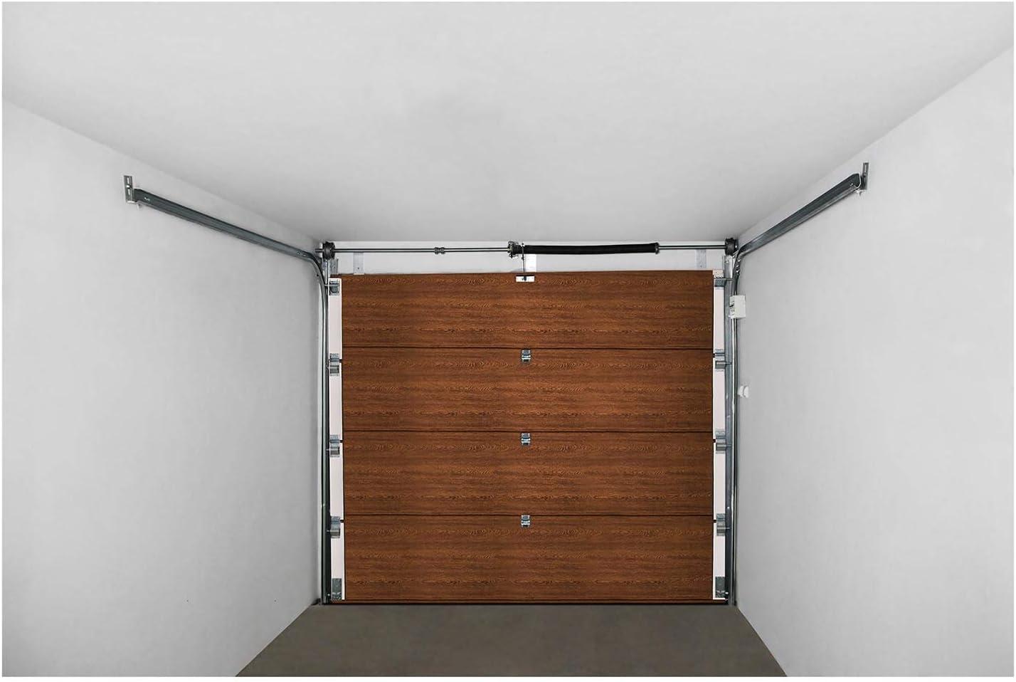 MSW Puerta de Garaje Seccional GD2375 Golden Oak (Abertura 2.375 x 2.125 mm, Juntas resistentes, 4 Secciones) Roble Dorado: Amazon.es: Bricolaje y herramientas