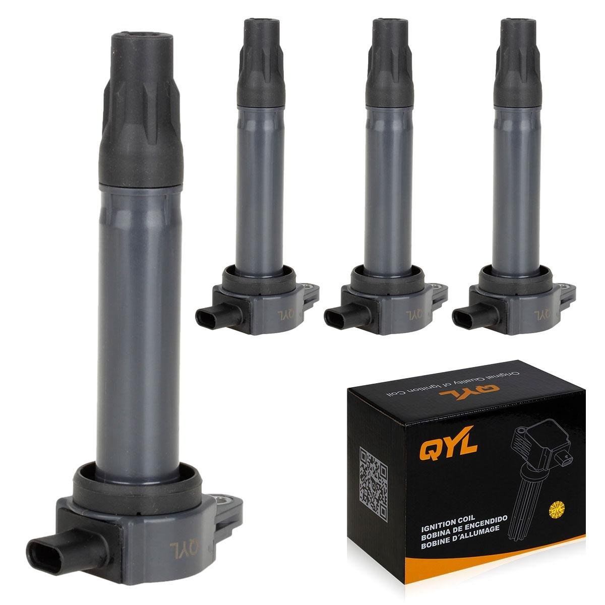 QYL Pack of 4 Ignition Coil for Chrysler Dodge Jeep 200 Cirrus Sebring Avenger Caliber Journey Compass Patriot 1.8L 2.0L 2.4L I4 UF557 5C1644 UF-557