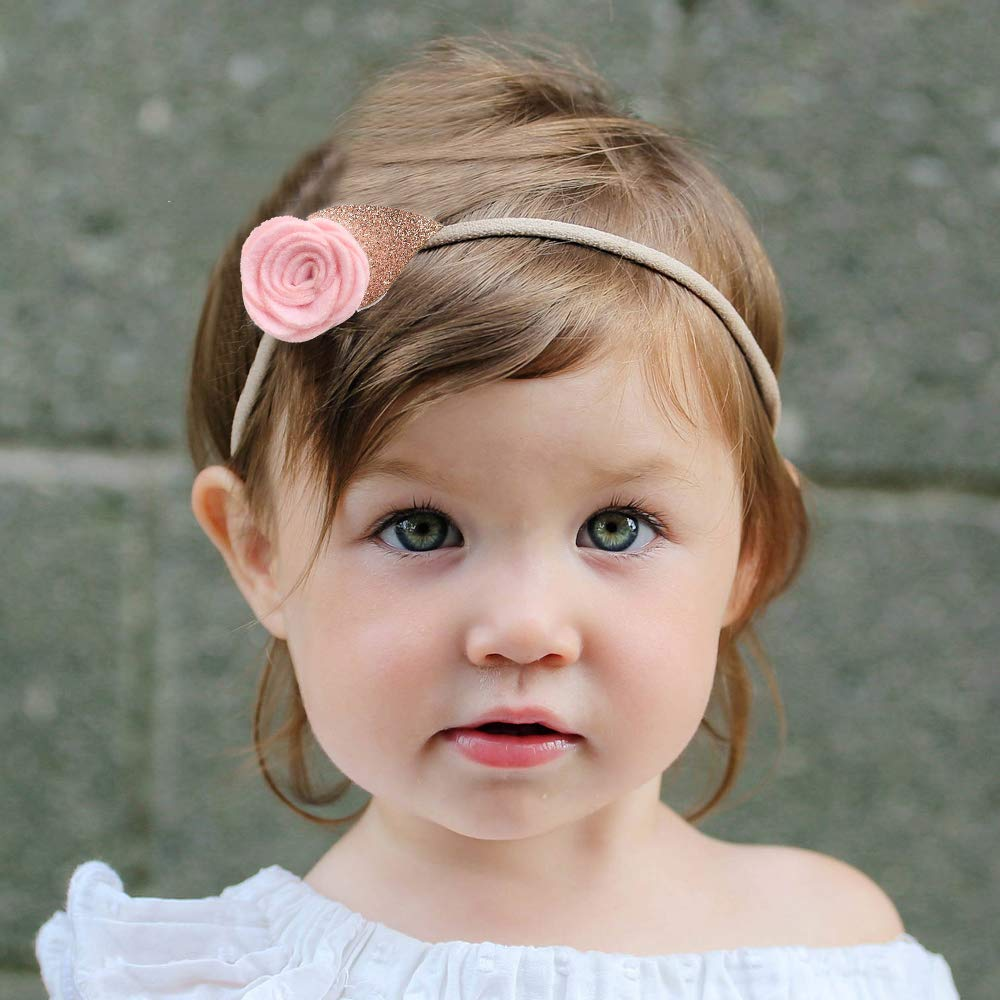 3er Baby Kinder Stirnband Großen Bogen Haarband Kopfband Elastische Haarbänder