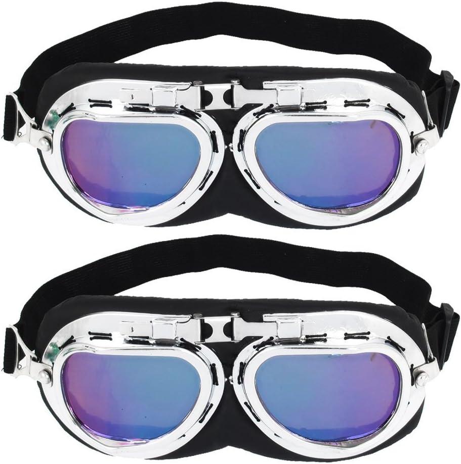 2 Stück Gummiband Lila Objektiv Full Frame Motorradbrille Sonnenbrille Auto