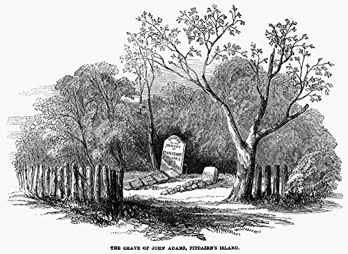 - Pitcairn Island 1852 Nthe Grave Of John Adams Alias Alexander Smith The Last Surviving Mutineer Of Hms Bounty At Pitcairn Island Wood Engraving Poster Print by (18 x 24)