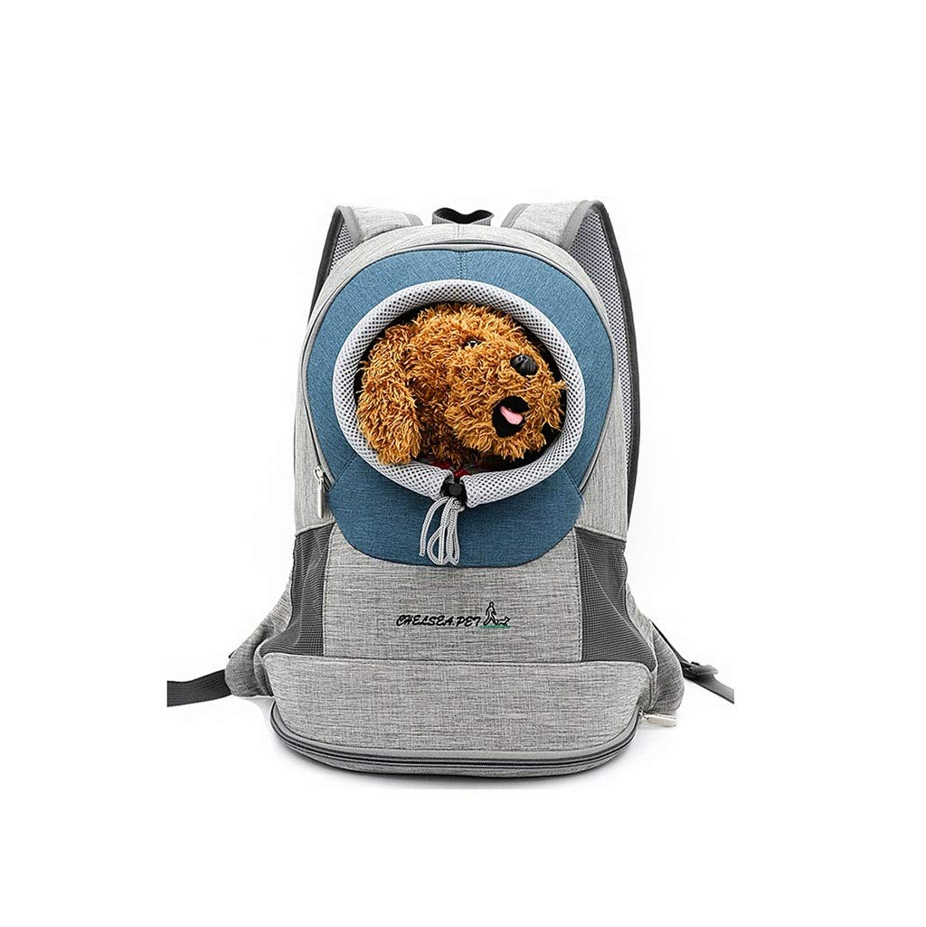 bluee LMIAOLIDP Puppy Backpack  Kitten Backpack  Pet Backpack  Cat Chest Bag  Small Teddy Dog  Carrying Case Pet cat carrier (color   bluee, Size   L)