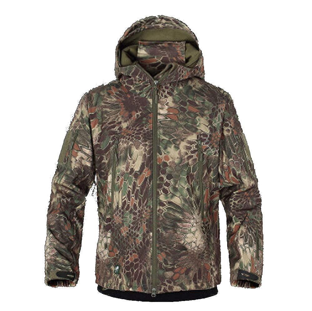 a07bc511aaf Amazon.com  Viviwin Army Camouflage Coat Military Jacket Waterproof  Windbreaker Raincoat Hunt Outerwear Jackets Coats Gpc S  Clothing