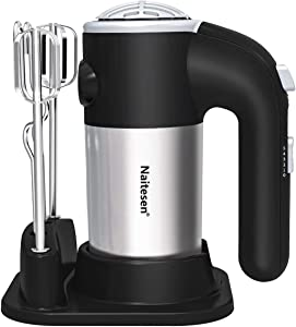 Electric Hand Mixer Lightweight Handheld Mixer for Baking Cake 5 Speed 300W Kitchen Mixer with Eggs Beaters Dough Hooks, Whipping Mixing Cookies, Brownies, Batters, Meringues, Mashed Potatoes