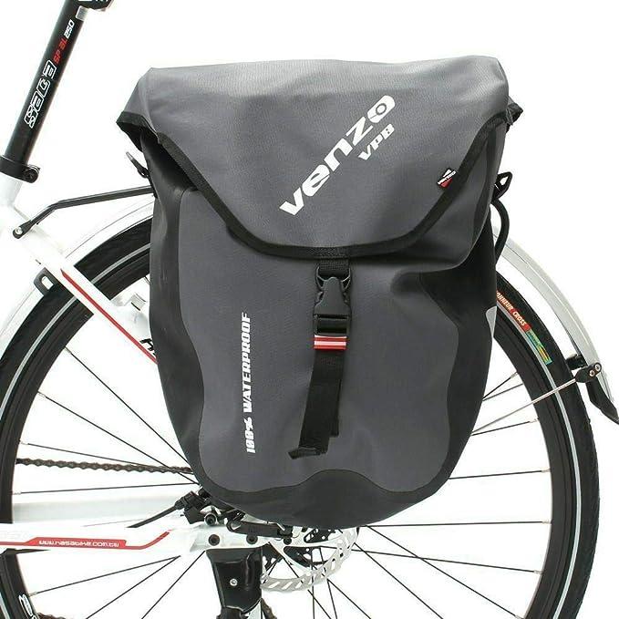 Venzo 600D TPU o Poliéster Impermeable Bicicleta Bicicleta Trasera Alforja Bolsa, 2 Bags 600D TPU Waterproof: Amazon.es: Deportes y aire libre