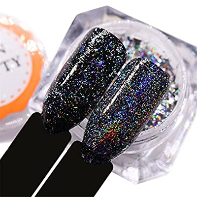 BORN PRETTY Galaxy Holo Iridescent Flakies Bling Laser Nail Sequins Holographic Glitter Powder Paillette