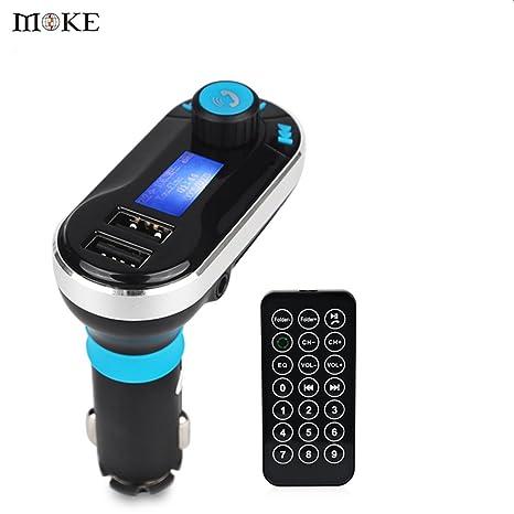 best service 707d1 59d67 Buy FM Transmitter Moke Fm Transmitter Handsfree Bluetooth for Car ...