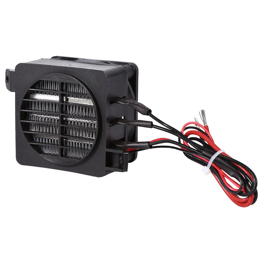 Fdit PTC Car Air Heater 100W 12V Energy Saving Car Fan Heater Constant Temperature Heating Element Heaters