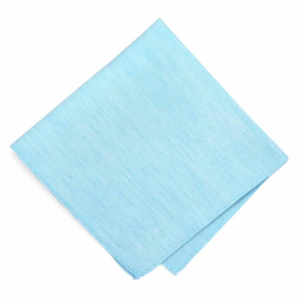 Regent Morris Neckwear Watercolor Blue Regency Linen//Silk Pocket Square
