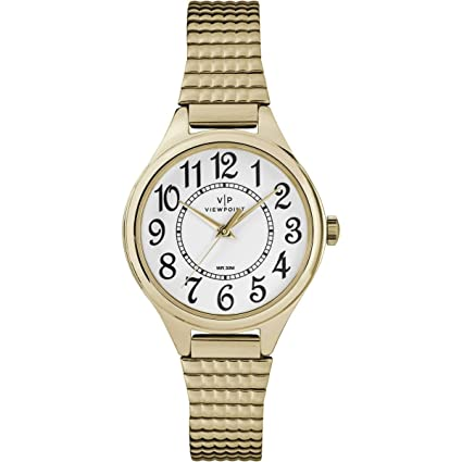 Amazon.com: Timex Viewpoint Womens Gold-Tone Stainless ...