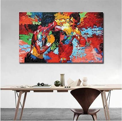 nr Filmplakat Boxen Sport Leinwand HD-Druck Wandkunst f/ür Esszimmer Rocky Apollo Bild Salon Dekor 50x70cm ungerahmt
