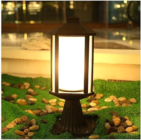 LJIANW-Farolas Jardin Exterior Cap Light Baja Tensión Antracita E27 LED Decoración De Efecto Jardín Pasarela del Patio , 7W (Color : Black, Size : 16x40cm): Amazon.es: Hogar