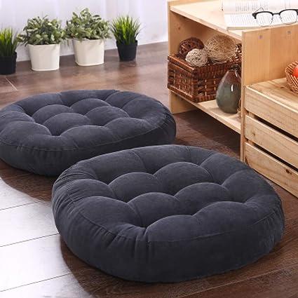 Almohada de piso redonda/cuadrada de algodón puf cojín de ...