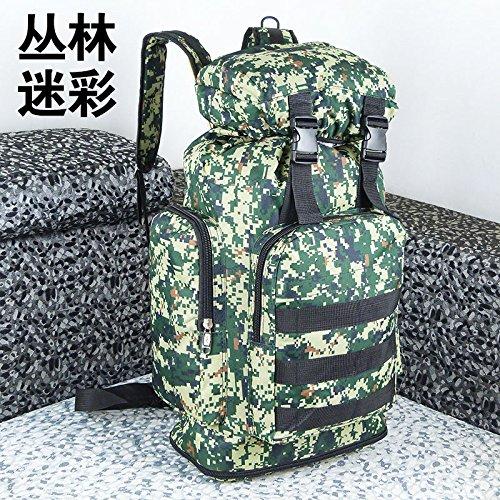 LWJgsa Mochila De Gran Capacidad Outdoor Travel Bag Hombres Y Mujeres Bolsa De Viaje Bolsa De Cuerda De Alpinismo Expansión Impermeable Jungle Camouflage Jungle Camouflage