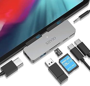 Aluminum USB-C Mobile Hub 4K USB 3.0 Type C 3.5mm Headphone Jack for iPad Pro