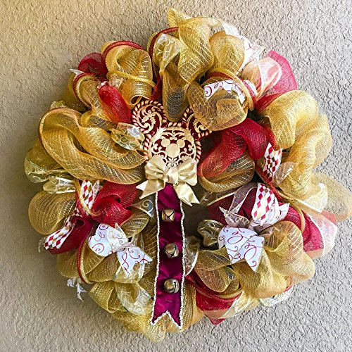 Victorian Disney inspired Mickey deco mesh wreath