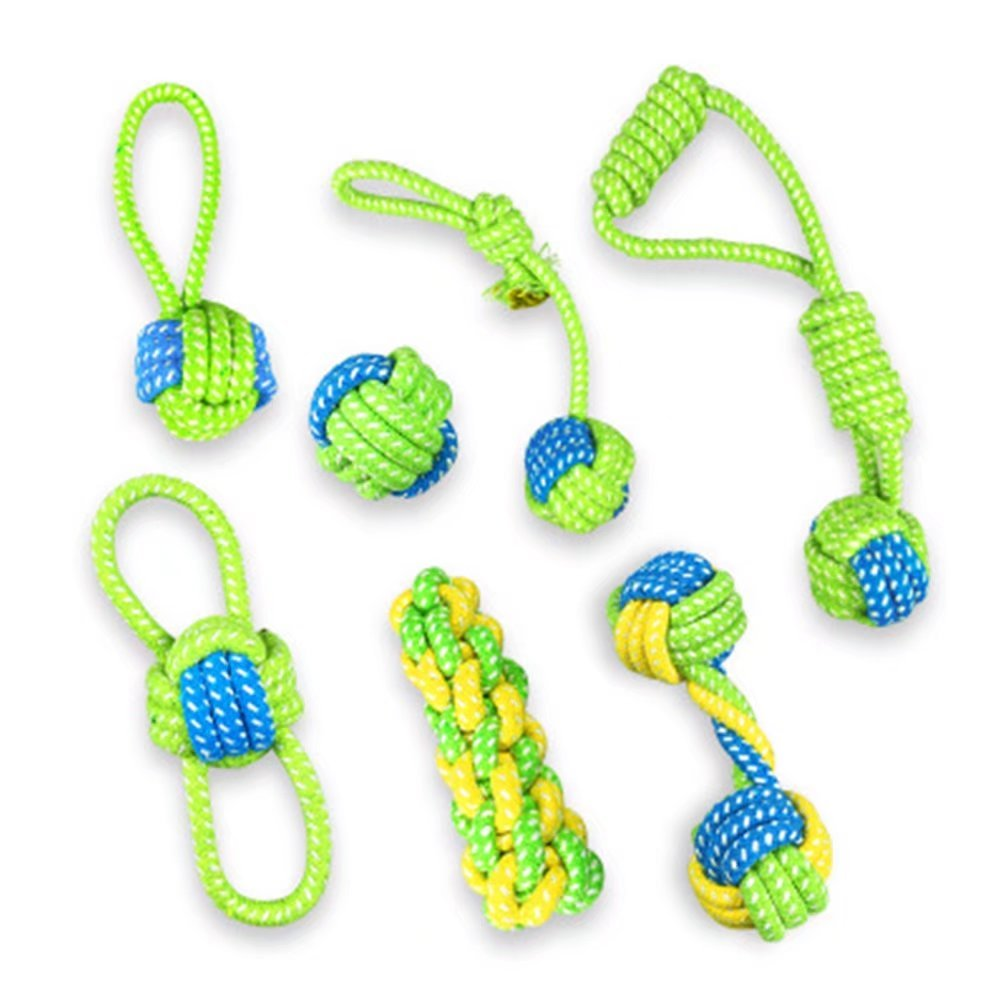 3PCS Funny Pet Dog Toys Cotton Rope Chew Toys Sets Outdoor Training Fun Playing Cat Dogs Toys