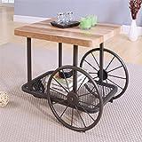 Acme Furniture Acme 82862 Francie End Table, Oak & Antique Gray, One Size For Sale