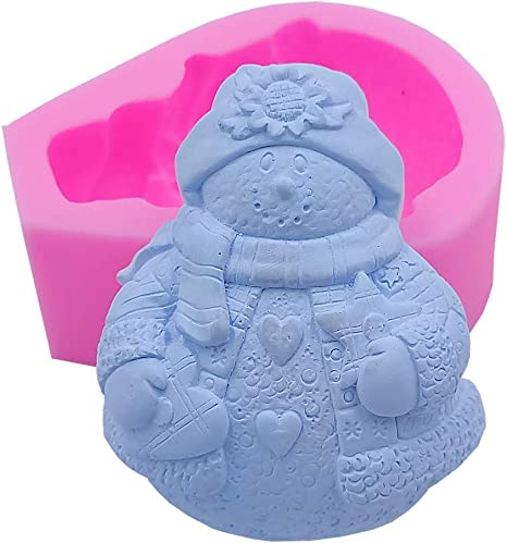 Bite Size Snowman Chocolate Candy Mold Christmas Winter Holiday Soap