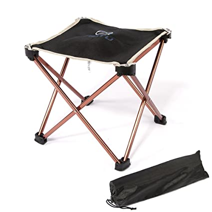 Charmant Portable Ultralight Folding Square Stool, TAOGE Aluminum Alloy Super Strong  Foldable Stool Chair For Outdoor
