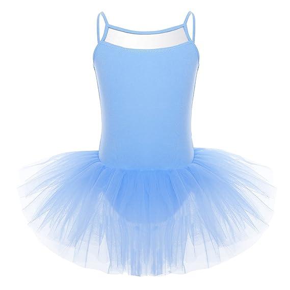 iEFiEL Vestido Maillot de Danza Ballet para Niña Vestido Clásico de Princesa Fiesta con Braguita Interior