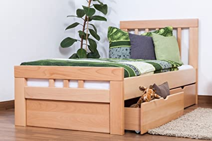 """57473f78a919 Single bed""""Easy Furniture"""" K8 incl. 2 drawers and cover plate,  solid"""