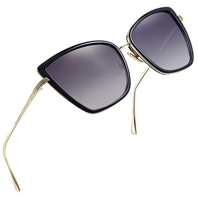 b260f4147 Joopin Fashion Cat Eye Sunglasses Women Retro Transparent Frame Brand Sun  Glasses(Black)