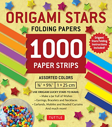 Origami Stars Papers 1,000 Paper Strips in Assorted Colors: 10 colors - 1000 sheets - Easy Instructions for Origami Lucky Stars]()