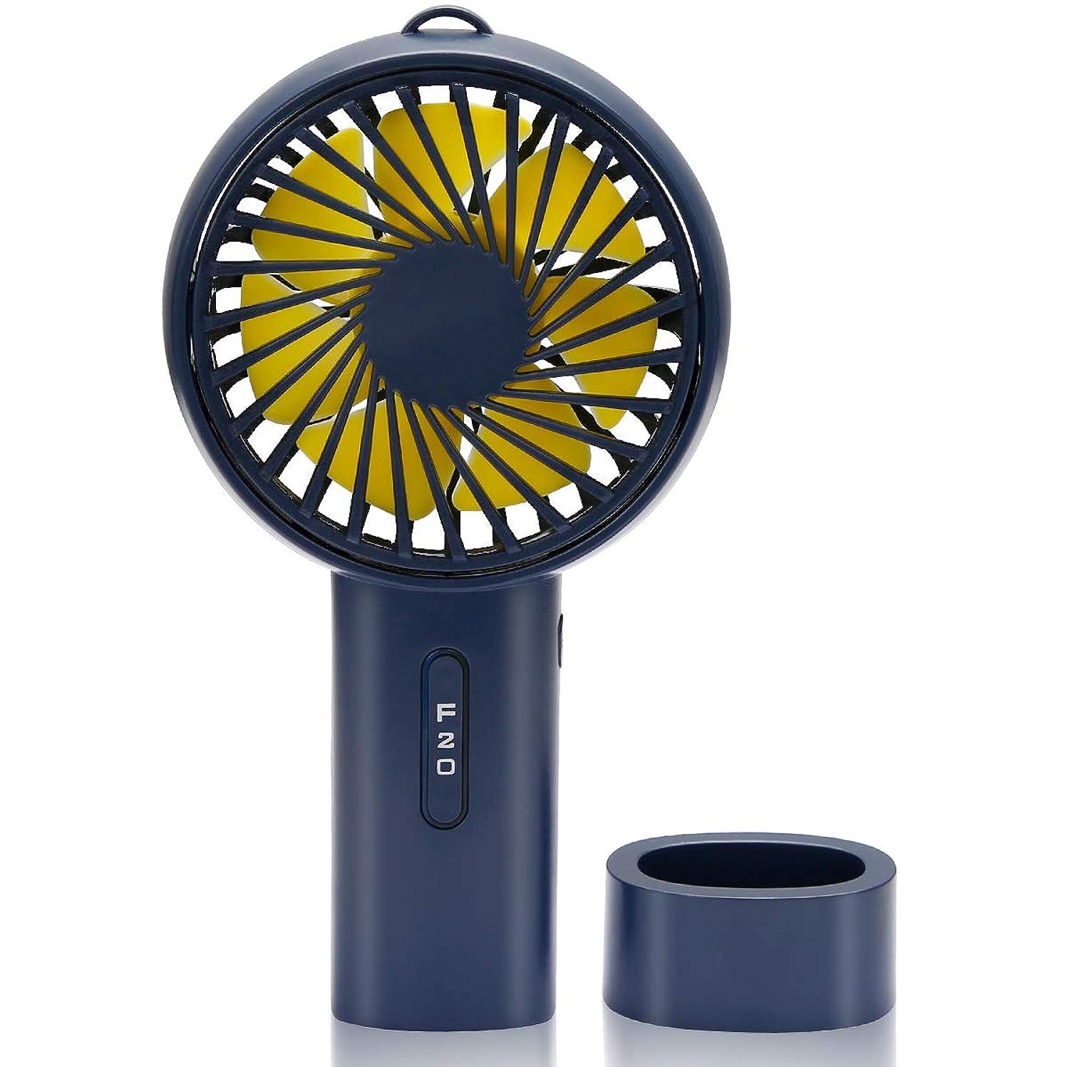 追加中央値顧問携帯扇風機 手持ち USB扇風機 卓上 首振り ストラップ付き ミニ扇風機