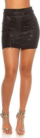 jowiha - Minifalda para Fiesta de Nochevieja, con Purpurina ...