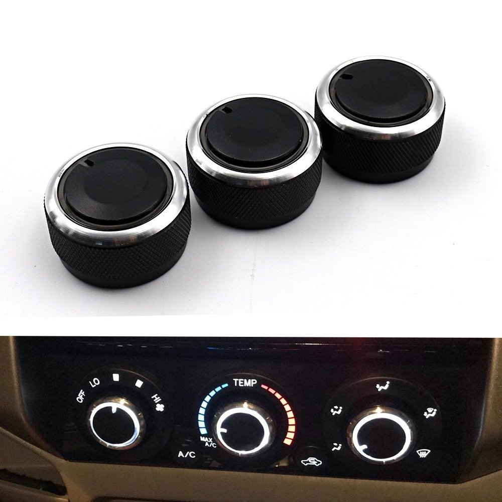 Car Air Conditioning Heat Control Switch Ac Knob for Toyota VIOS(2002-2006) Vela Vitz YARIS Tacoma (Pack of 3) HALU