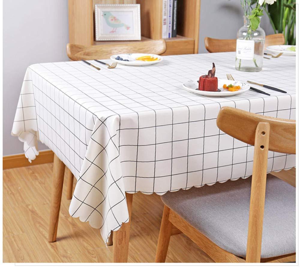 WJJYTX gartentischdecke eckig, Square Table Cover Cloth Tischdecke und Various Sizes-Dirt Repellent Tischdecke PVC Pastoral Style @ 110 * 160